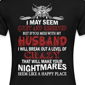 If you mess with my husband - Women's Premium T-Shirt