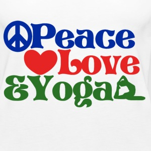 peace love and YOGA - Women's Premium Tank Top