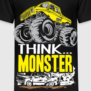 Think Monster Truck Yell Baby & Toddler Shirts - Toddler Premium T-Shirt