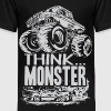 Think Monster Truck Grey Kids' Shirts - Kids' Premium T-Shirt