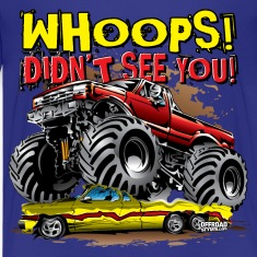 Monster Truck Whoops Red Kids' Shirts