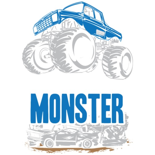Think Monster Truck Blue