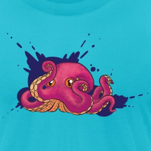 Octopus Ink T-Shirts - Men's T-Shirt by American Apparel