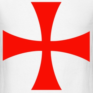 Knights Templar Cross T-Shirts - Men's T-Shirt