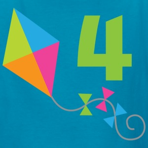 4th Birthday Kite Kids' Shirts - Kids' T-Shirt