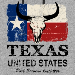 Texas Bull Flag - Vintage Look Hoodies - Colorblock Hoodie