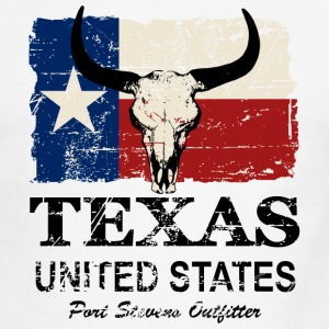 Texas Bull Flag - Vintage Look T-Shirts - Men's Ringer T-Shirt