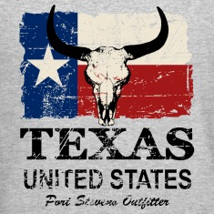 Texas Bull Flag - Vintage Look Long Sleeve Shirts