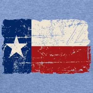 Texas Flag - Vintage Look Long Sleeve Shirts - Women's Wideneck Sweatshirt