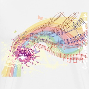 Colored musical Notes T-Shirts - Men's Premium T-Shirt