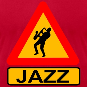 Jazz Caution T-Shirts - Men's T-Shirt by American Apparel
