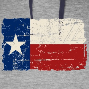 Texas Flag - Vintage Look Hoodies - Colorblock Hoodie