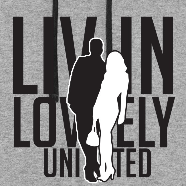 Livin Lovely United Black/Gray Color Block Hoodie