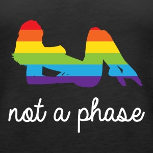 not a phase lesbian LGBT rainbow pride Tanks - Women's Premium Tank Top