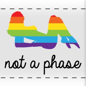 not a phase rainbow LGBT Lesbian Pride Accessories - Panoramic Mug