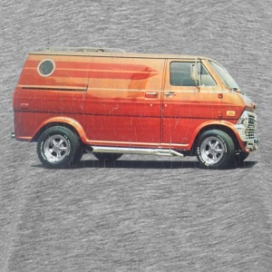 1970s Custom Van (vintage distressed look) - Men's Premium T-Shirt