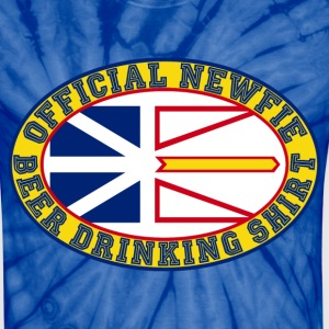 Official Newfie Beer Drinking Shirt - Unisex Tie Dye T-Shirt