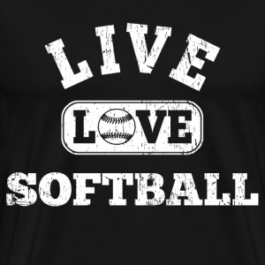 Live Love Softball T-Shirts - Men's Premium T-Shirt