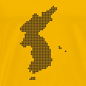 Pixel Korea Map T-Shirt  - Men's Premium T-Shirt