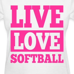 Live Love Softball Women's T-Shirts - Women's T-Shirt