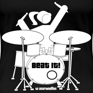 Drummer Girl - Beat it! Women's T-Shirts - Women's Premium T-Shirt