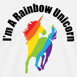 I'm A Rainbow Unicorn Gay and Lesbian Humor T-Shirts - Men's Premium T-Shirt