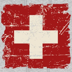 Swiss Flag - Vintage Look Hoodies - Men's Hoodie