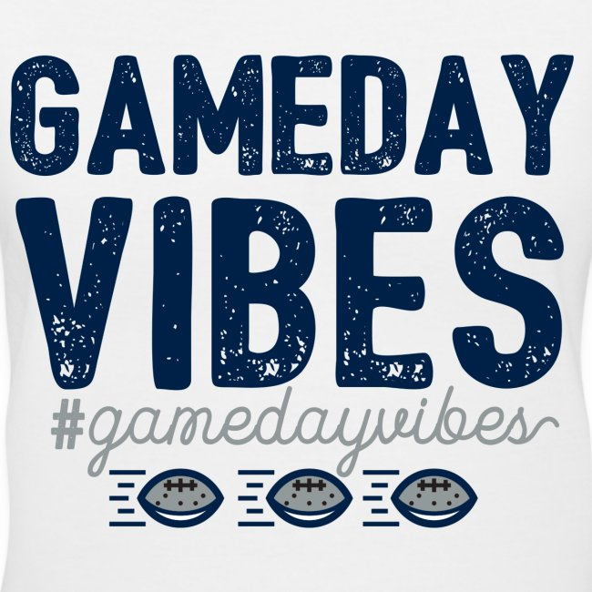 Gameday Vibes Blue and Silver