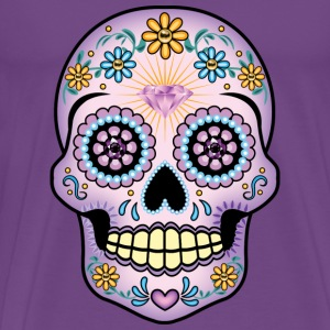 Purple Sugar Skull - Men's Premium T-Shirt
