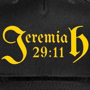 Jeremiah 29:11 - Snap-back Baseball Cap