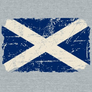 Scotland Flag - Vintage Look  T-Shirts - Unisex Tri-Blend T-Shirt by American Apparel