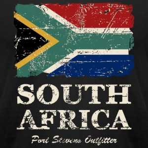 South Africa Flag - Vintage Look  T-Shirts - Men's T-Shirt by American Apparel