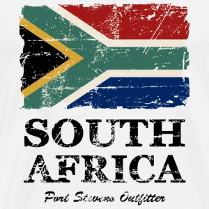 South Africa Flag - Vintage Look  T-Shirts - Men's Premium T-Shirt
