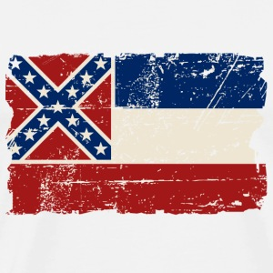 Mississippi Flag - Vintage Look  T-Shirts - Men's Premium T-Shirt