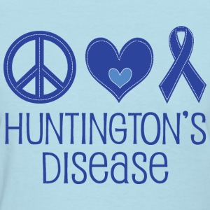 Huntingtons Disease Peace Heart Women's T-Shirts - Women's T-Shirt