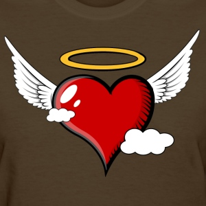 Flying Heart with Halo - Women's T-Shirt