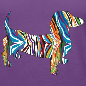 A Cute psychedelic doxie Tanks - Women's Premium Tank Top
