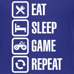 Eat sleep game repeat Baby & Toddler Shirts - Toddler Premium T-Shirt
