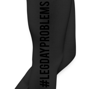 #LEGDAYPROBLEMS Long Tights-Black Lettering - Leggings