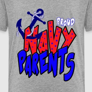 Proud Navy Parents Kids' Shirts - Kids' Premium T-Shirt