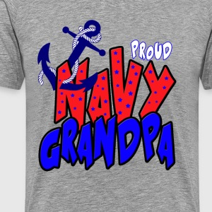 Proud Navy Grandpa T-Shirts - Men's Premium T-Shirt
