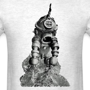 Vintage Diver with the Tritonia Diving Armor Suit - Men's T-Shirt