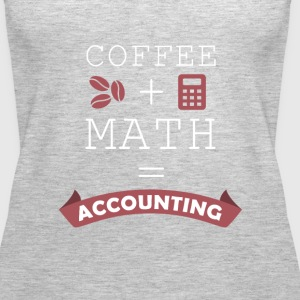Coffee + Math = Accounting T-shirt Tanks - Women's Premium Tank Top