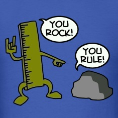 You rock you rule joke t-shirt