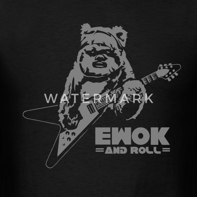 Funny star wars rock and roll parody t-shirt - Men's T-Shirt