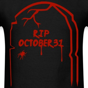 RIP Halloween Tombstone - Red T-Shirts - Men's T-Shirt