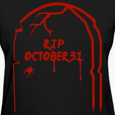 RIP Halloween Tombstone - Red Women's T-Shirts