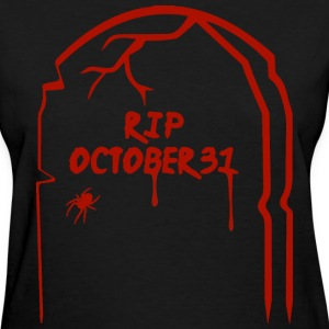 RIP Halloween Tombstone - Red Women's T-Shirts - Women's T-Shirt