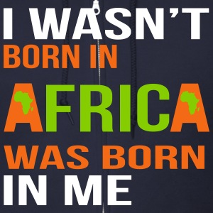 I wasn't born in Africa - White, Orange and Green - Men's Zip Hoodie