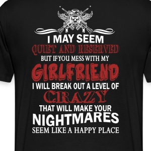 If you mess with my Girlfriend - Men's Premium T-Shirt